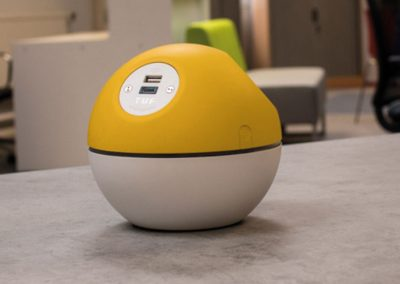 Planet yellow with white TUF A+C USB chrger