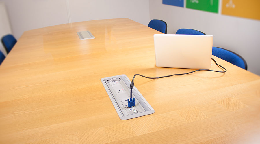 Platinum Indesk Power Socket USB Charging Data Solution OE - Conference table power and data modules