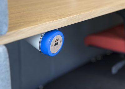 on desk power, under desk power, in desk power, classroom power, library charging, office charging, usb charging, usb reversibility