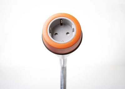Pose with orange bezel and grey Schuko socket