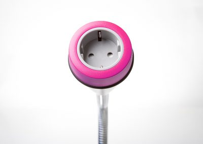 Pose with pink bezel and grey Schuko socket
