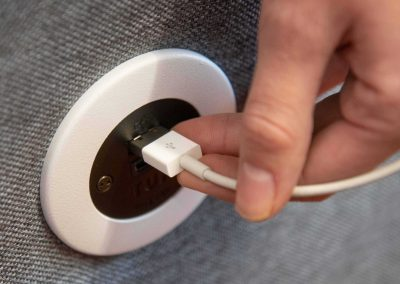 reversible USB Type a charger in seating