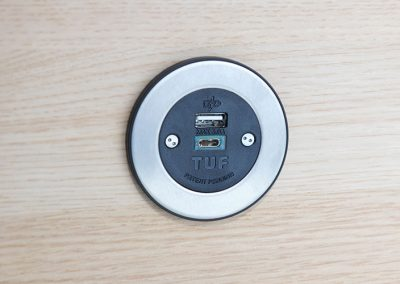 Pip Stainless Steel Inlay TUF A+C USB charger