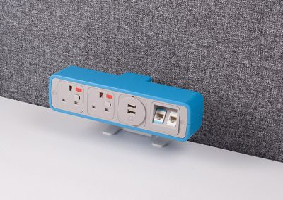 Pulse Light blue with UK sockets, 2 data and TUF charger