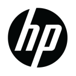 HP logo black