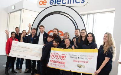 OE Electrics Raise £770 for Yorkshire Air Ambulance
