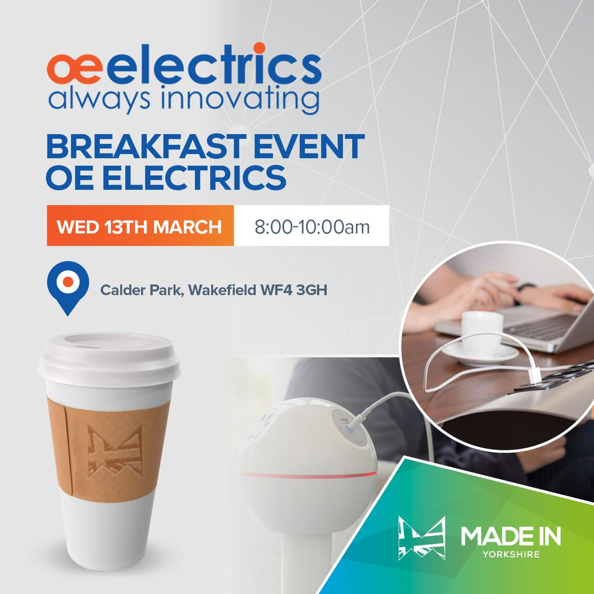 OE Electrics Made in Yorkshire Breakfast Morning