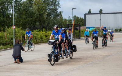 OE Electrics cycle 510km to OE GmbH to raise money for charity