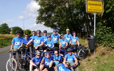 Cyclists from OE Electrics UK were travelling on Heiligenhauser Mountain