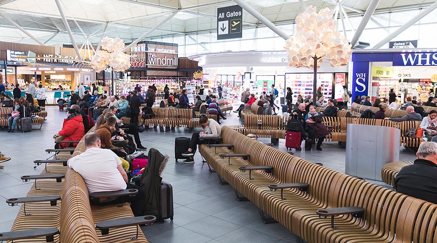 London Stansted airport charging solutions, charging usb furniture, green furniture concept
