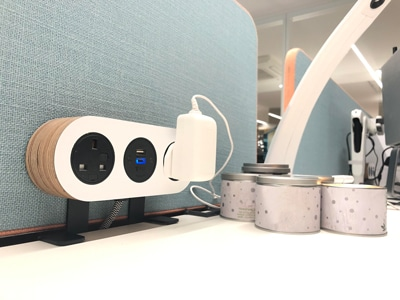 Office charging solutions, on desk power, usb charging solutions