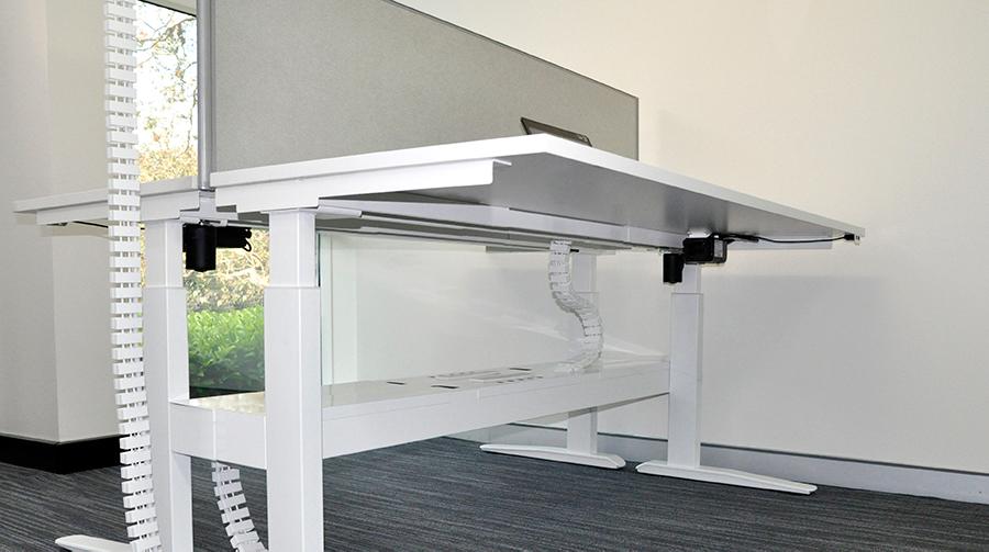 sit stand desk cable management, cable management